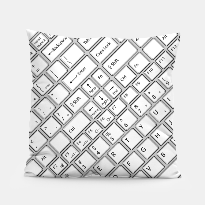 Keyboarded - The ultimate computer keyboard pattern for boys Pillow, Live Heroes