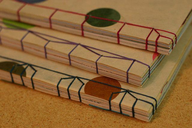 japanese stab binding by kelanew, via Flickr