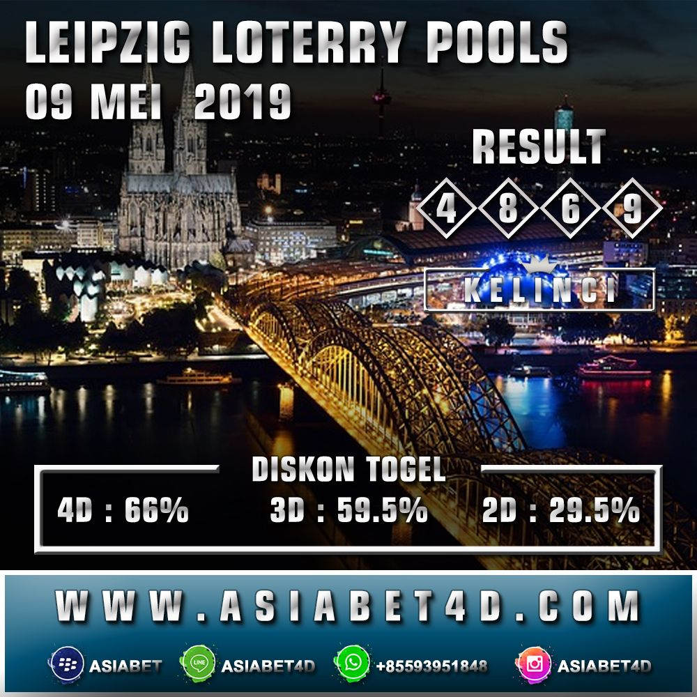 RESULT LEIPZIG LOTTERY KAMIS 09 MEI 2019 - Magnum 4d Live