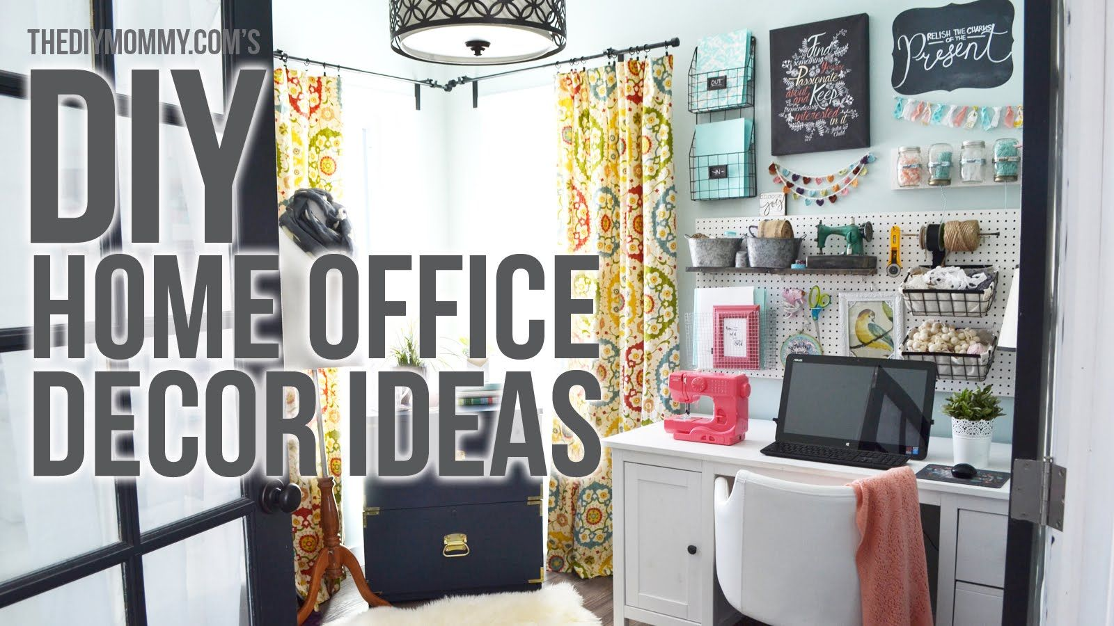 Craft Room Home Office Tour 3