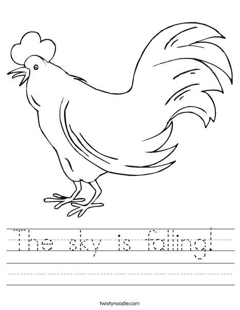 Henny Penny  Chicken coloring pages, Henny penny, Worksheets