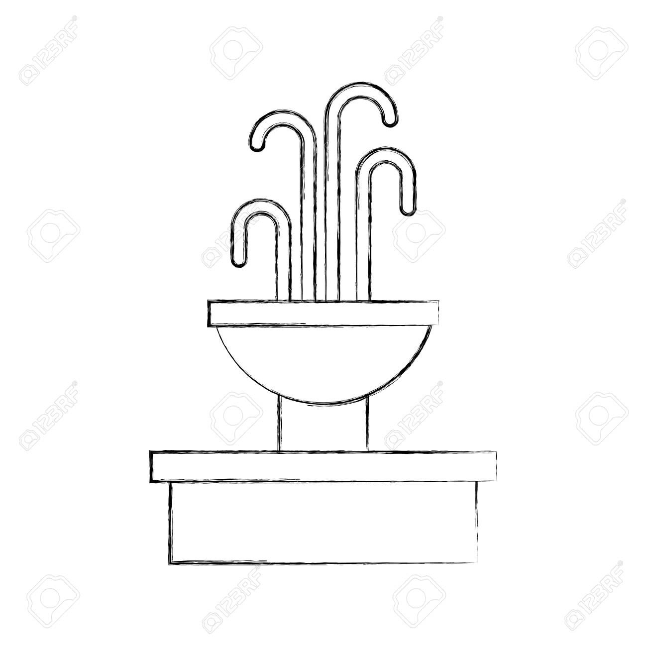Fountain With Water Splash Element Vector Illustration Illustration Sponsored Splash Water Fountain Elem Vector Illustration Art Design Illustration