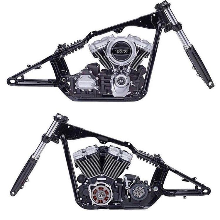 Harley Davidson Softail frame (2018) | Harley Davidson | Pinterest ...