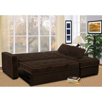 Jacqueline Fabric Sofa Chaise Convertible Bed Home Decor