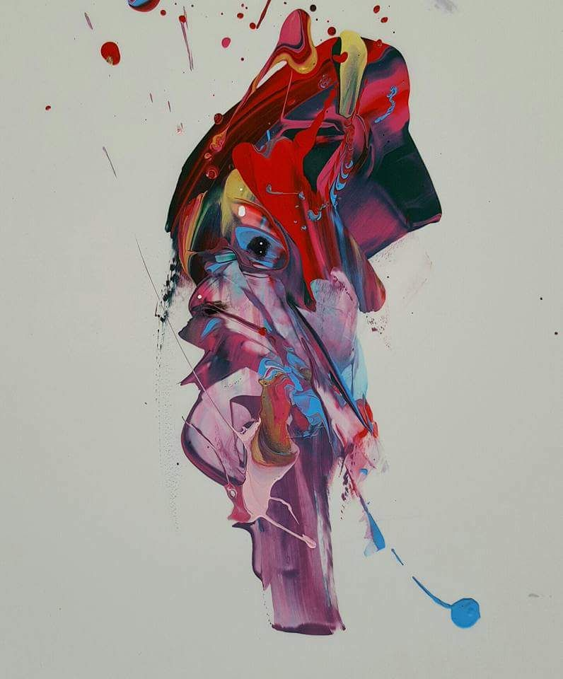 Amselhof Kunstdrucke oxane beard abstract painterly