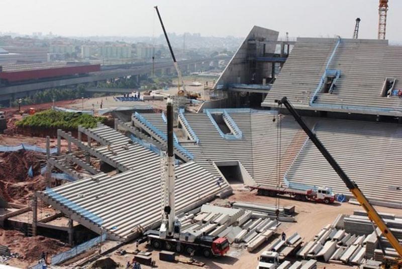 Estádio do Corinthians só será concluído após a Copa do Mundo