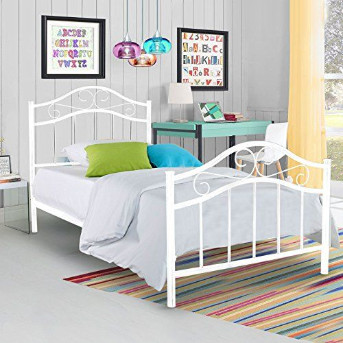 Greenforest Heavy Duty Bed Frame Twin Size Non Slip Metal Frame