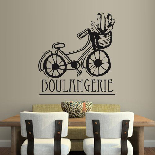 Wall Decal Art Decor Decals Sticker Boulangerie Bakery Bike Bread Cafe Kitchen Long Loaf Baking (M225) DecorWallDecals http://www.amazon.com/dp/B00FWK645I/ref=cm_sw_r_pi_dp_acmYub0QM3QTD