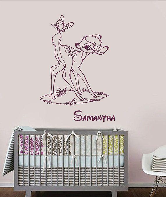 bambi wall decal custom name vinyl stickeramazingdecalls   bambi