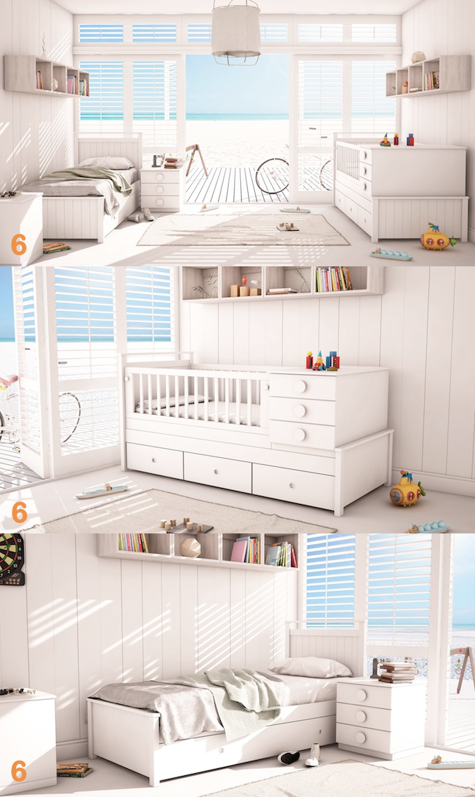 Proyecto Mueble Funcional Diseño De Mobiliario A Medida: Cuna Funcional Bebes Linea Milan Muebles Infantiles Y