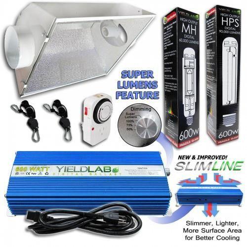 The Yield Lab 600 watt HPS & MH cool hood reflector kit is