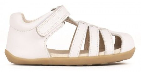 00b92e555092 Bobux Step Up Jump White Sandals sizes EU18-21 (UK 2-4.5) £34.99. Leather closed  toe sandal perfect for all day wear this Summer