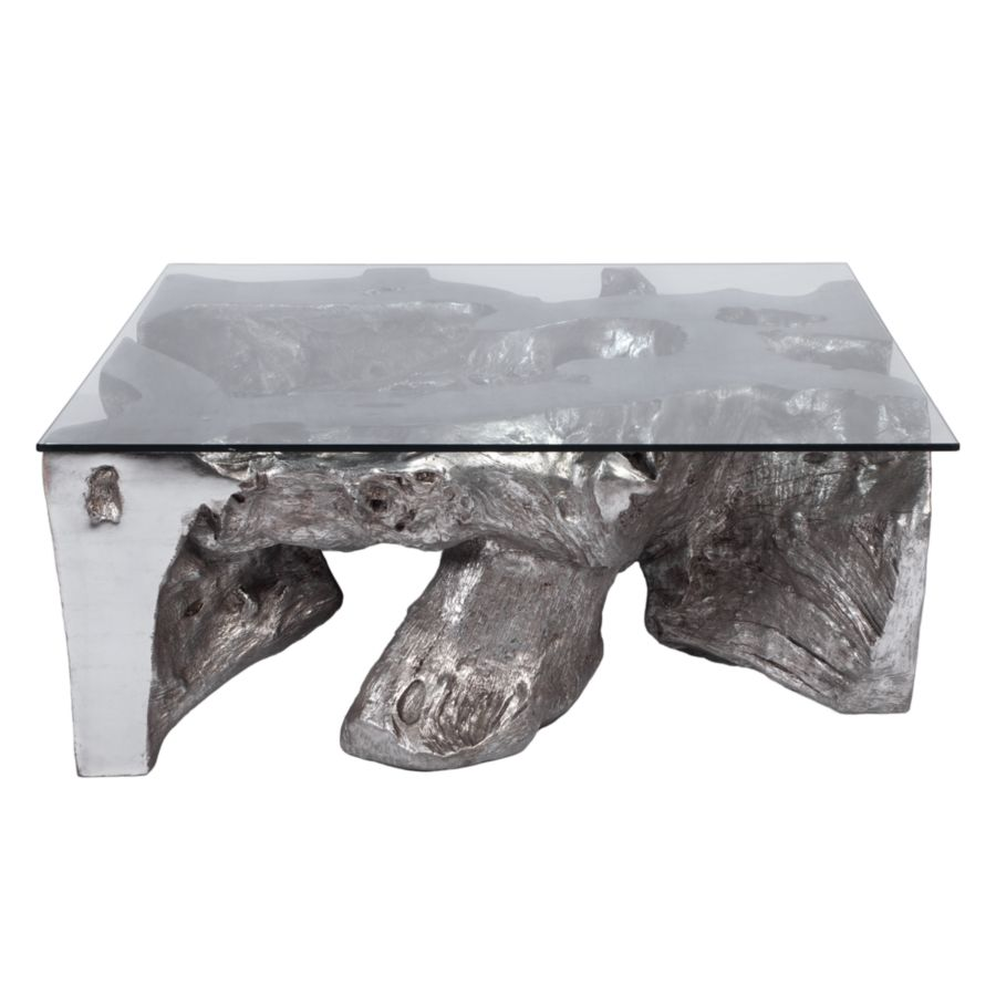 Sequoia Coffee Table Silver Coffee Table Glass Top