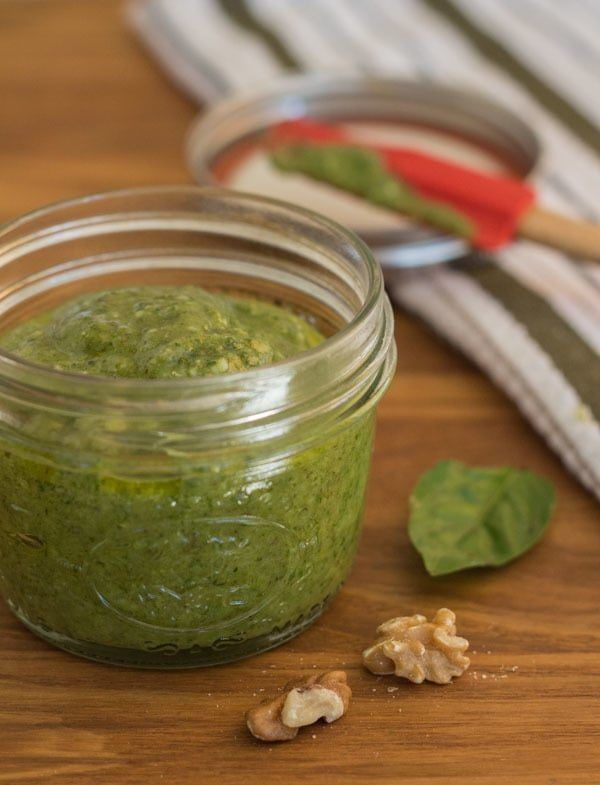 Homemade Basil Walnut Pesto