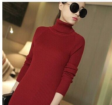 Free shipping Hot sales long-sleeved turtleneck sweater women primer shirt candy multicolored sweater casual warm pullovers