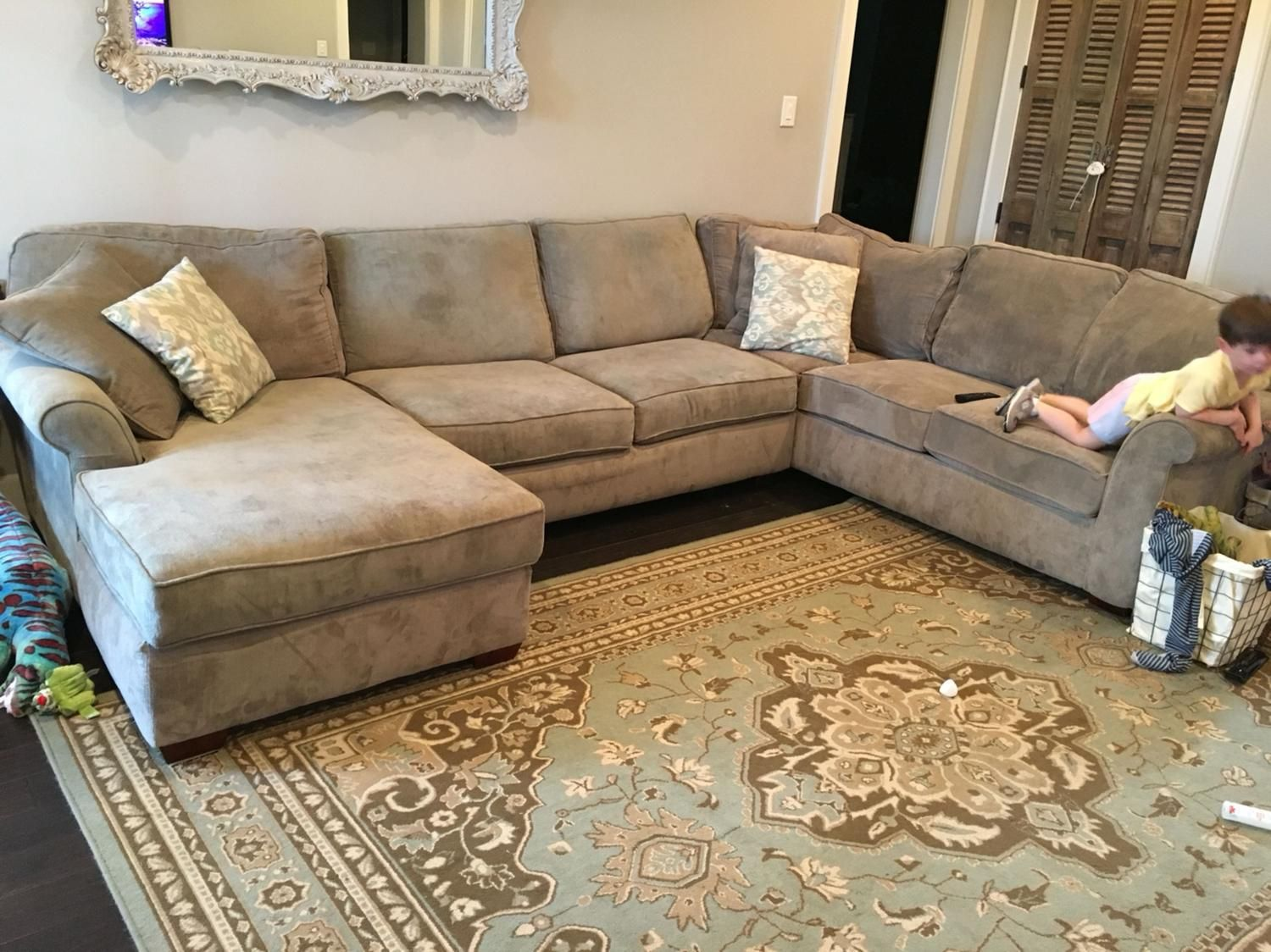 Havertys Piedmont Sectional  Spaces Apartment Ideas And Room Fascinating No Furniture Living Room Review