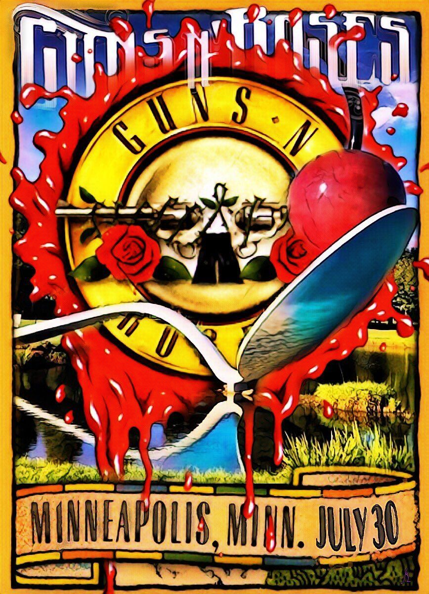 Guns And Roses Mn : guns and roses not in this lifetime tour minneapolis mn afiches vintage music posters ~ Hamham.info Haus und Dekorationen