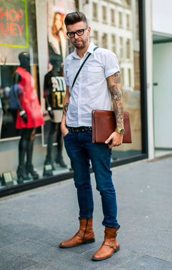 He needs to be wearing our Biltmore wood frame in Italian Ebony! how perfect would that be? #Hipster #Men love the boots and matching notebook ;)