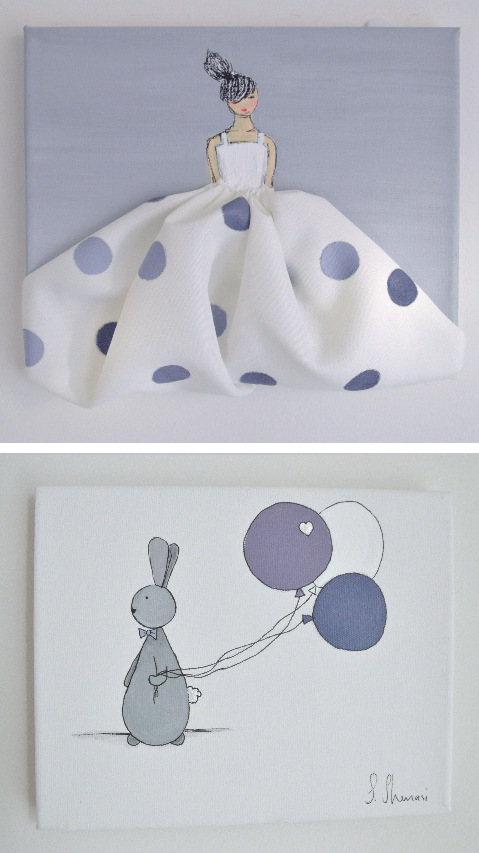 #shenasiconcept Custom designed #canvas for little girl's room, #nursery, or #babyshower!