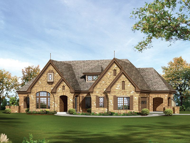 one story stone house plans