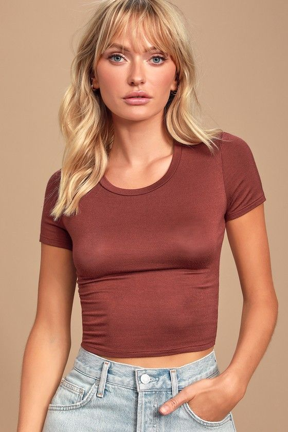 Gotta Have It Burgundy Crop Top