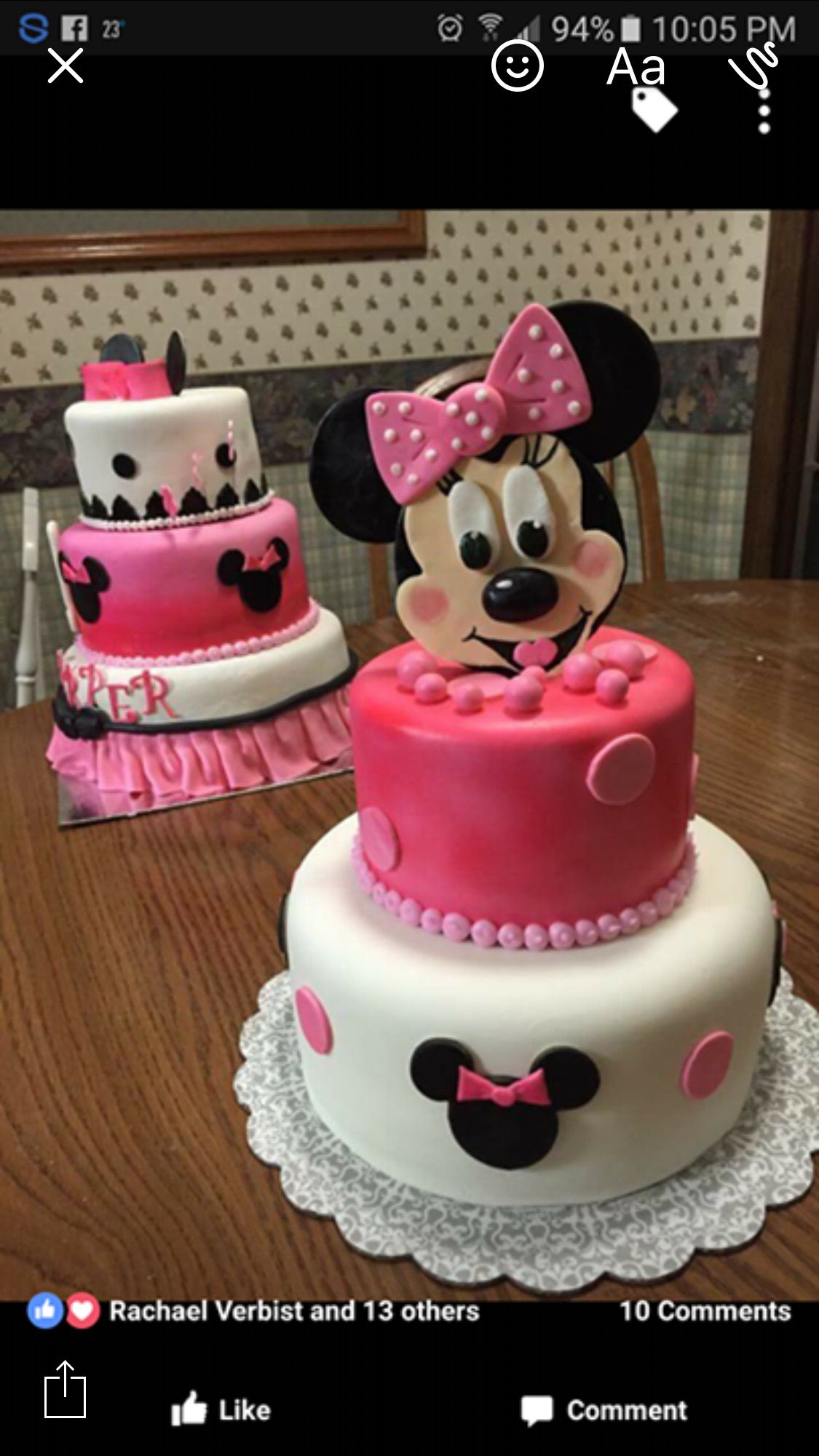 Minnie Mouse Birthday Cakes My Creations Pinterest Minnie