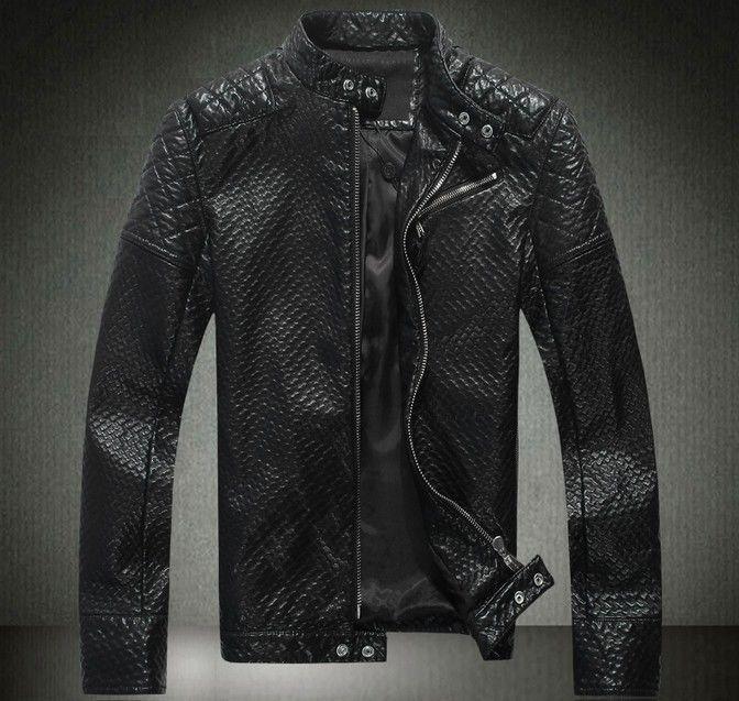 Philipp Plein Men Leather Jacket Motorcycle Men Skull Black 2014 # PhilippPlein #BasicJacket