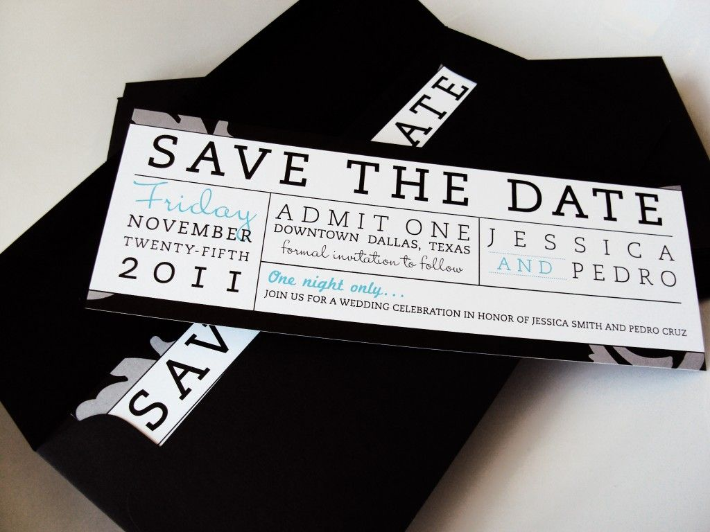 Dog Wedding Invitations: Cute Ticket Save The Date From Doodle Dog Creative