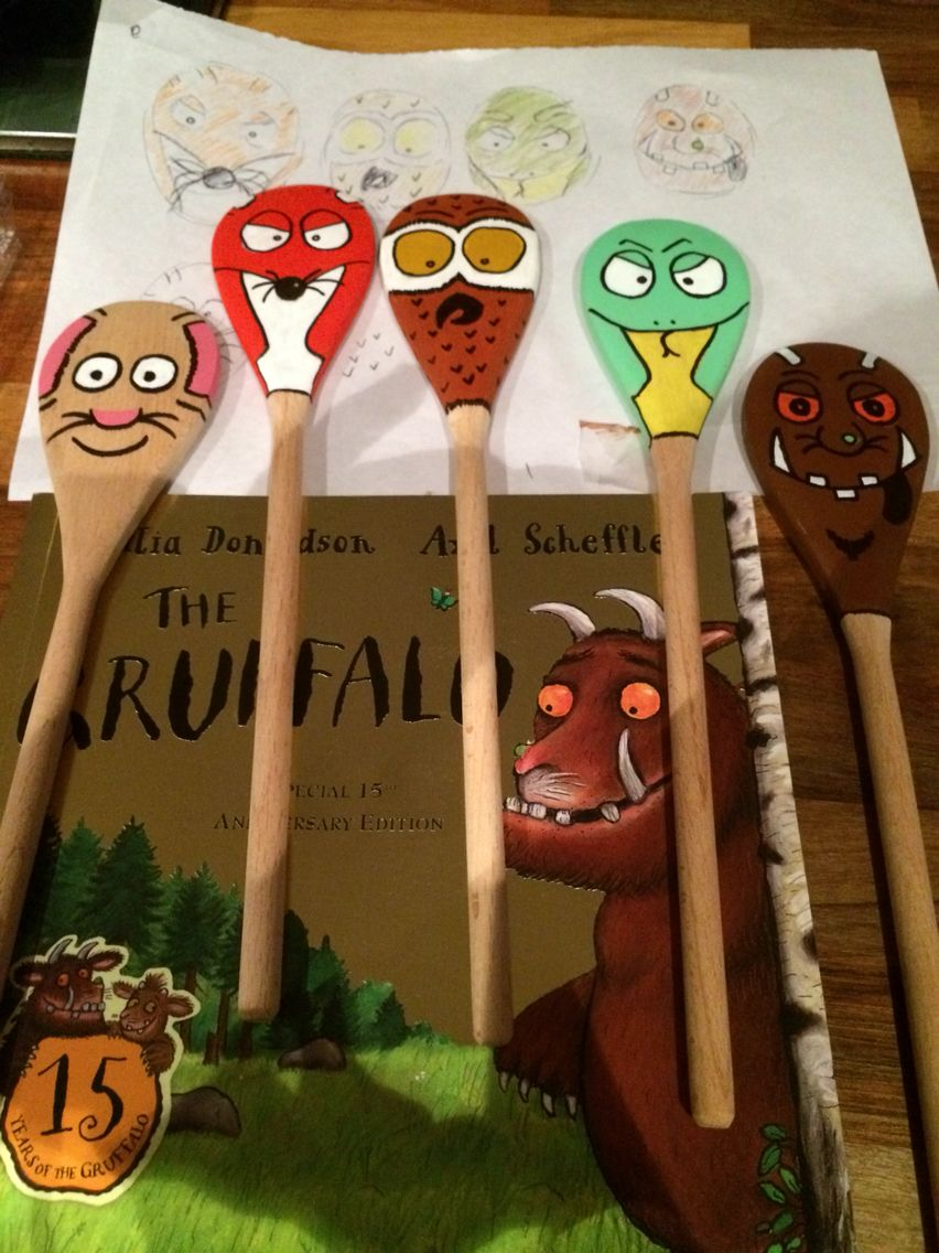 Gruffalo wooden spoon puppets Search Pipsqueak Bugoo's on Facebook for prices