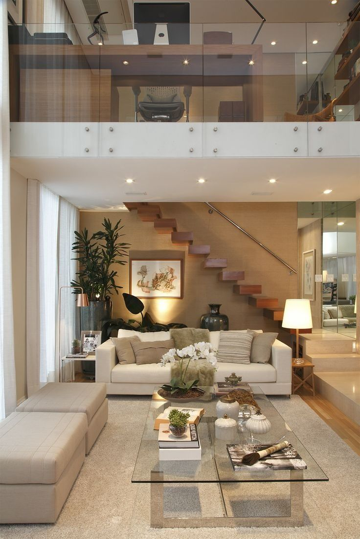 Escalera Interiores De Doble Altura Para La Casa House Design Living Room Designs Y