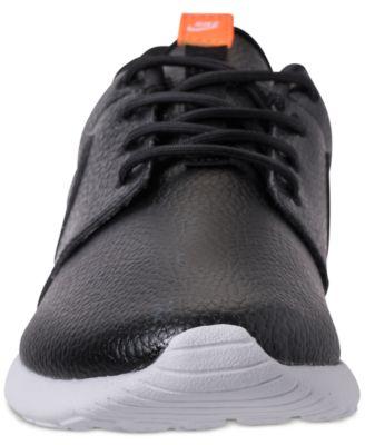pretty nice 35276 5ca73 Nike Women s Roshe One Premium Casual Sneakers from Finish Line - Black  8.5. Nike Women s Roshe One Premium Just Do It ...