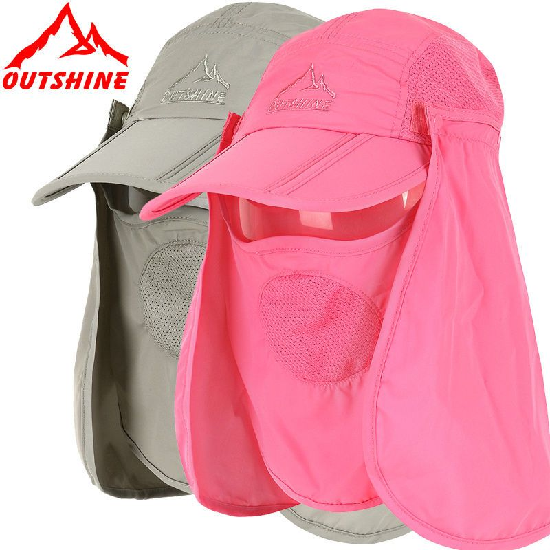 1ef512bc2389a NYLON Summer Womens and Mens Sun Protection Windproof Fishing Cap Neck Face  Flap Hat  OUTSHINE  BaseballCap