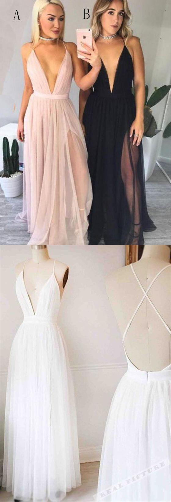 Simple cheap black white pink long aline tulle modest handmade