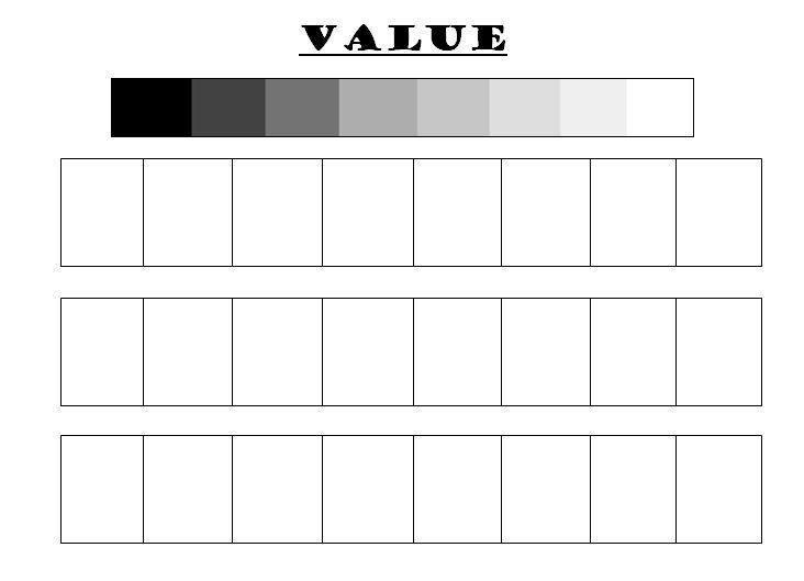 grade sheet for artwork art value scale worksheet printable the art room pinterest. Black Bedroom Furniture Sets. Home Design Ideas