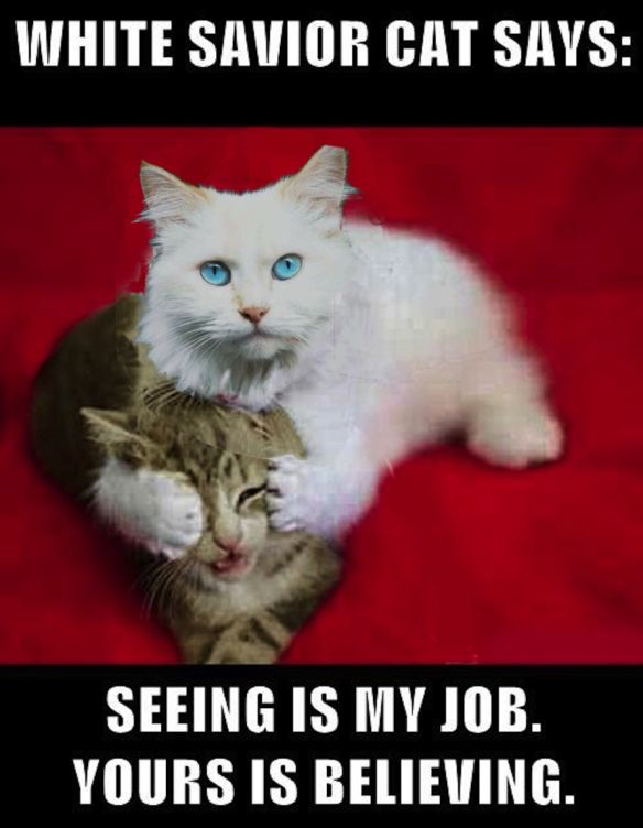 White savior cat   Politics   ...