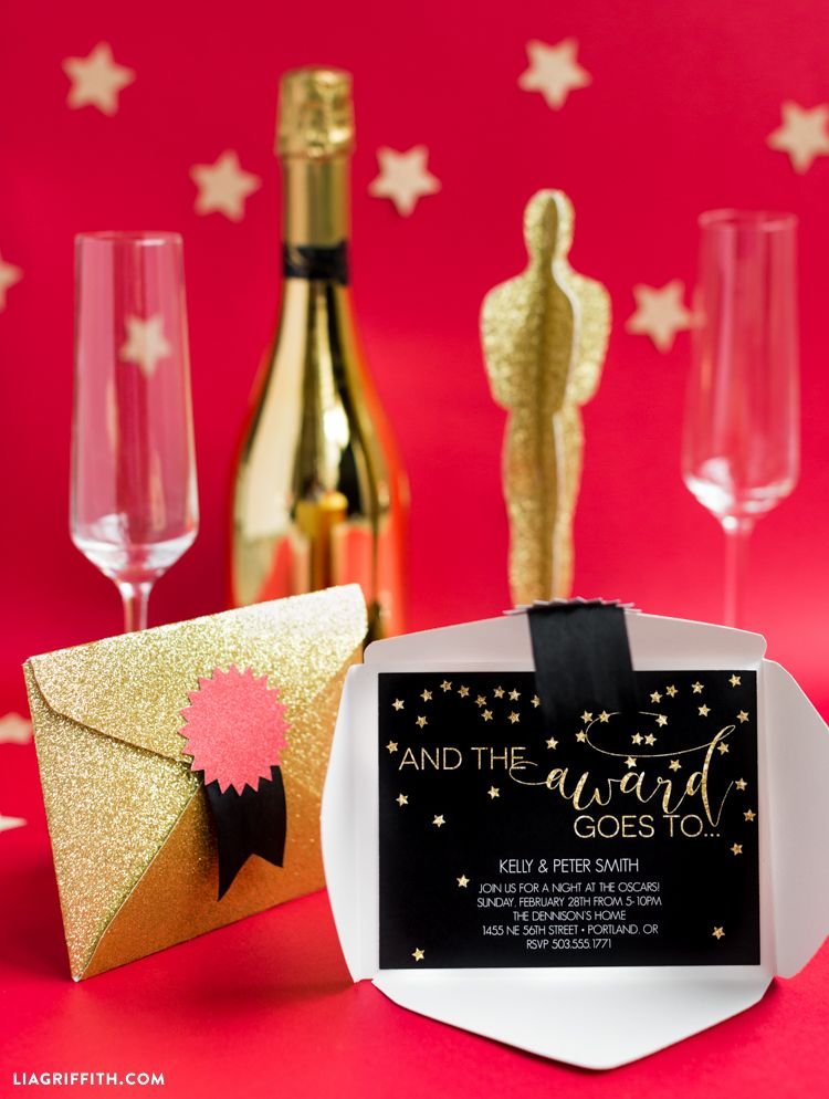Oscar Party Invitation | Oscar party, Party invitations and Themed ...