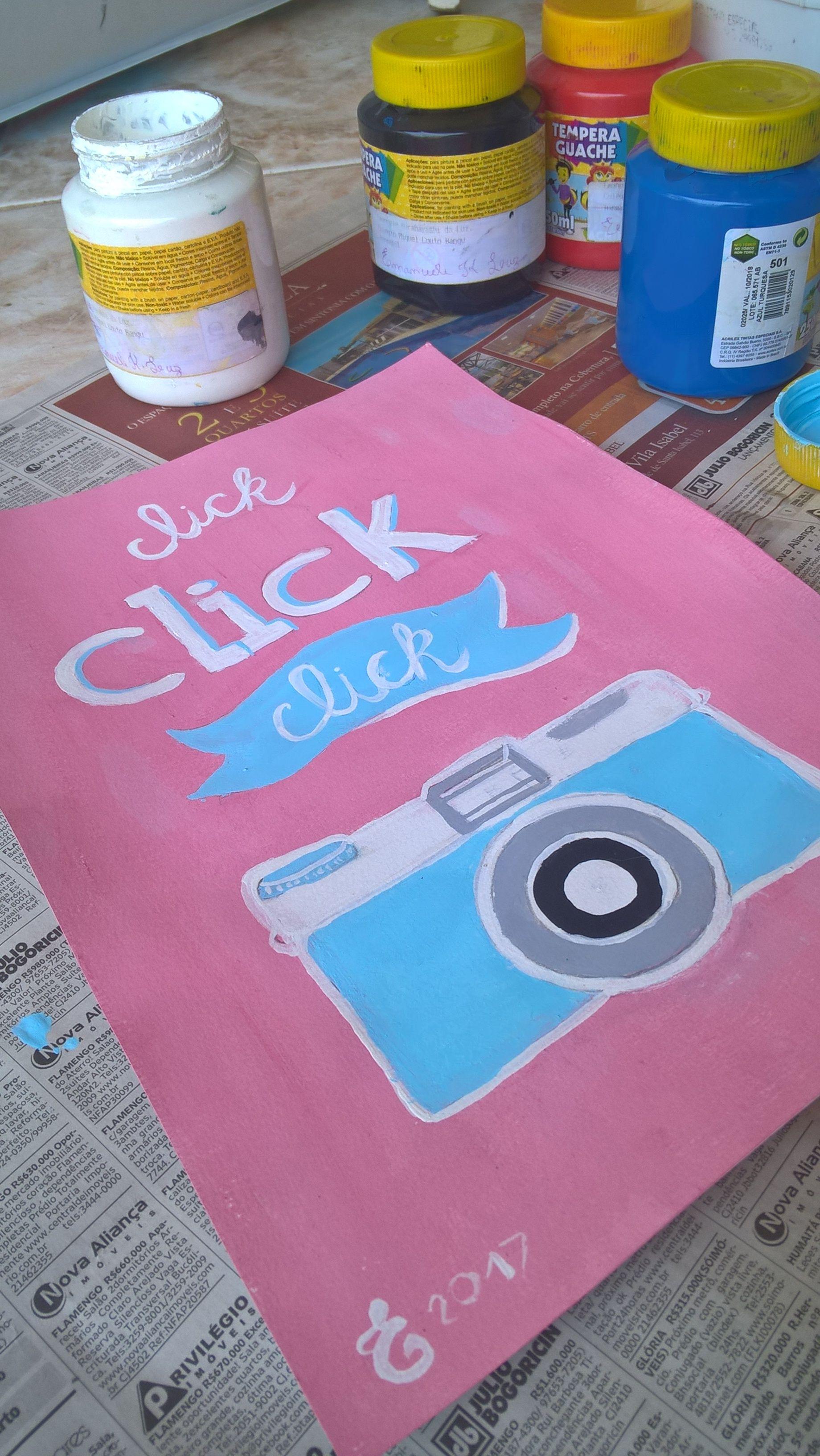 Fazendo click ! DIY - Quadro Decorativo | Manu