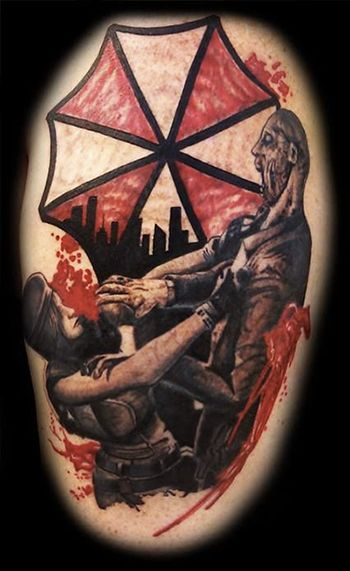 resident evil tattoos 1 resident evil tattoos pinterest evil tattoos and tattoo. Black Bedroom Furniture Sets. Home Design Ideas