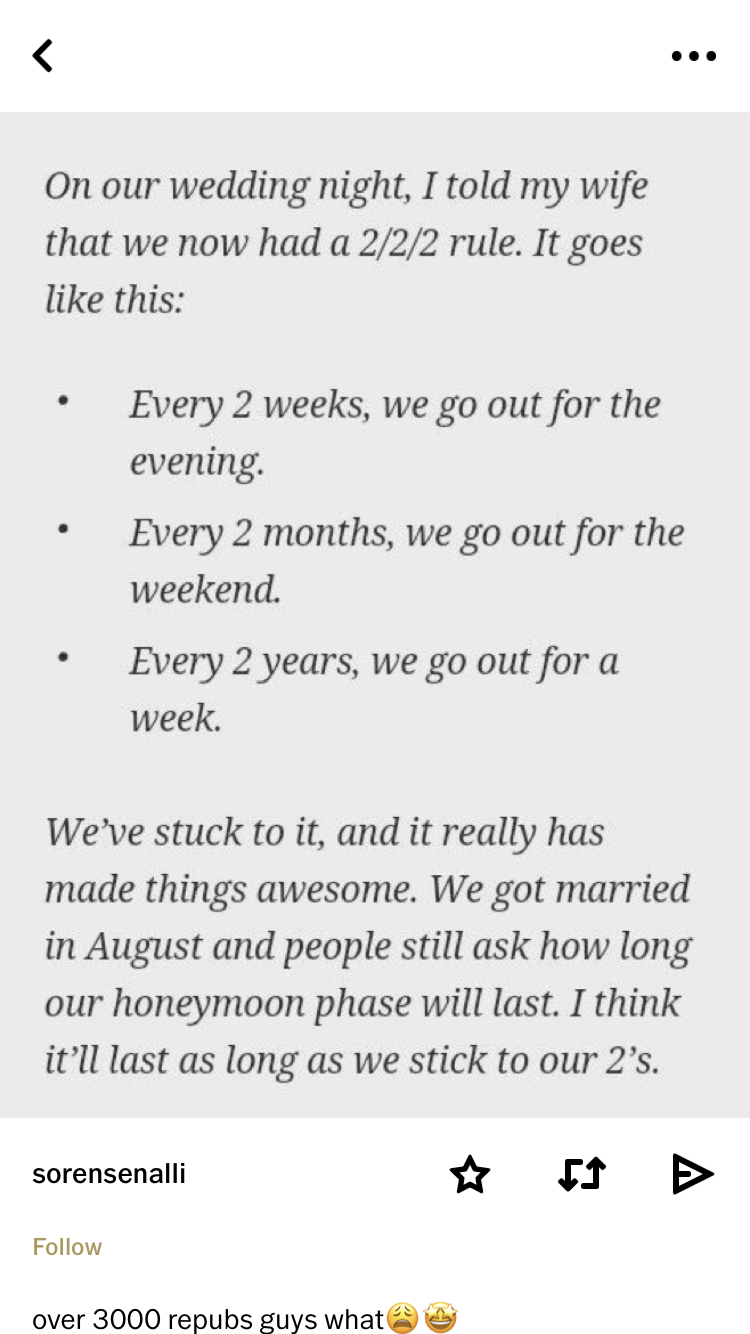 I Love It But Going Out For A Weekend Every Two Months Sounds Ridiculously Expensive And I M Not Into Camp In 2020 Love And Marriage Future Wedding Plans Marriage