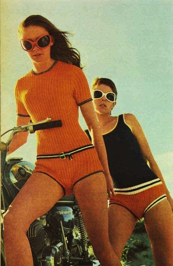 72d48ed3598 Vintage Bathing Suit Knitting Pattern - Swimwear Jumper - Bathing Suits -  Two 2 Pattern Lot