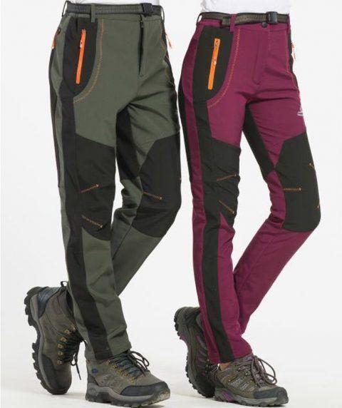 Men Outdoor Casual Pants Walking Camping Hiking Sport Trousers Winter Warm Pants