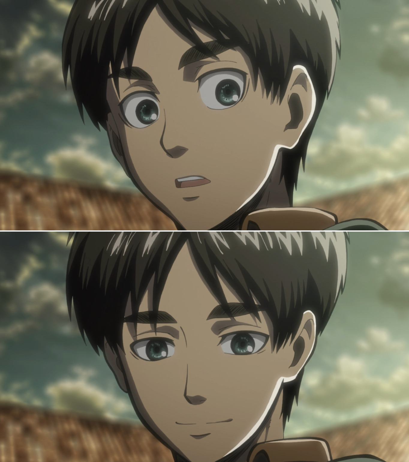Sweet Eren Attack On Titan Season 1 Attack On Titan Season Attack On Titan Eren Attack On Titan Anime Author hajime isayama created eren to be an ordinary youngster who gets paralyzed with fear when he sees a titan rather than a stereotypical hotheaded protagonist often seen in shonen manga.1 he also stated that eren's wish. sweet eren attack on titan season 1