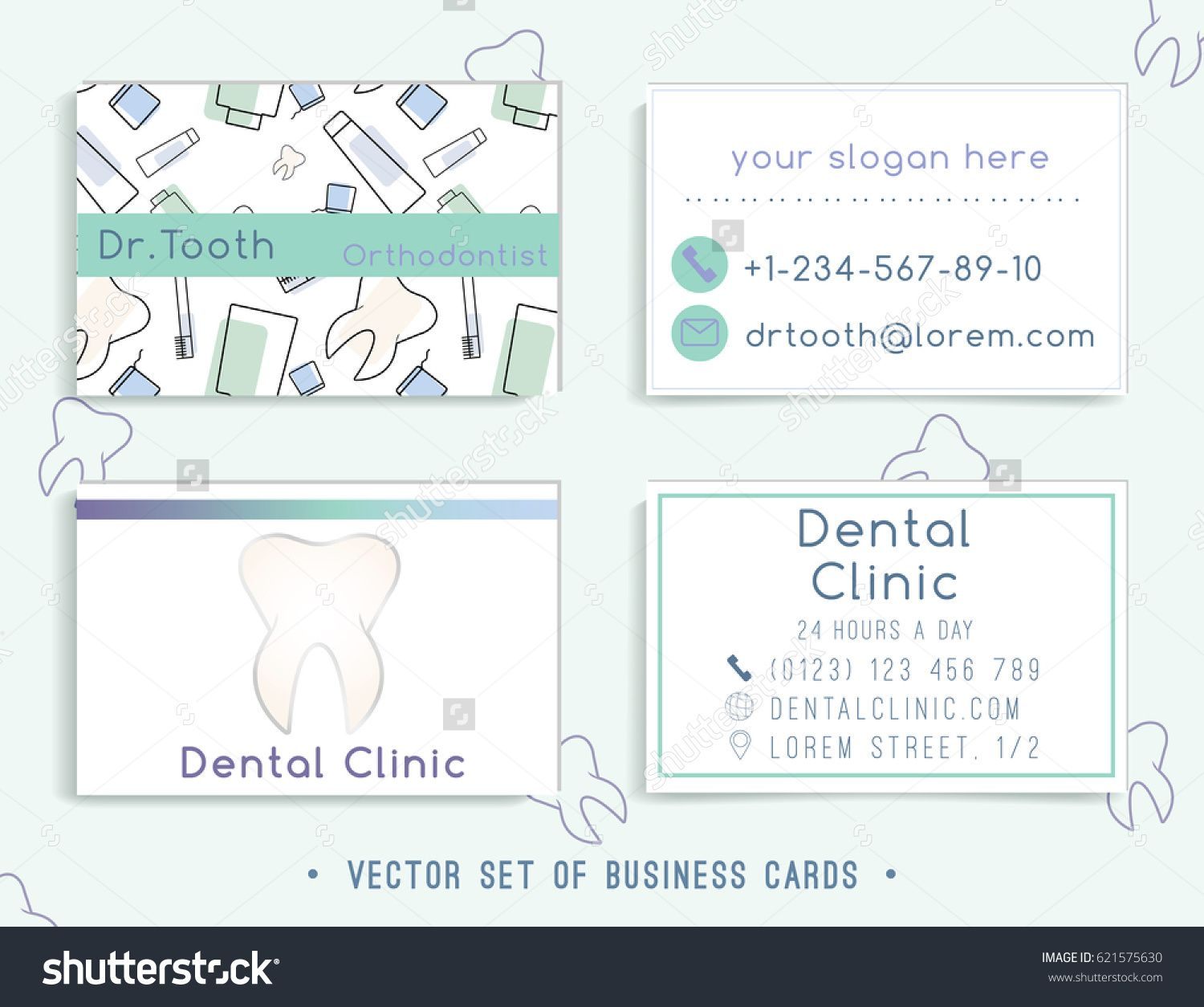 Business card template design for your dental clinic or