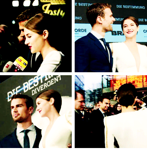 Shailene Woodley And Theo James At Divergent Premiere In Berlin