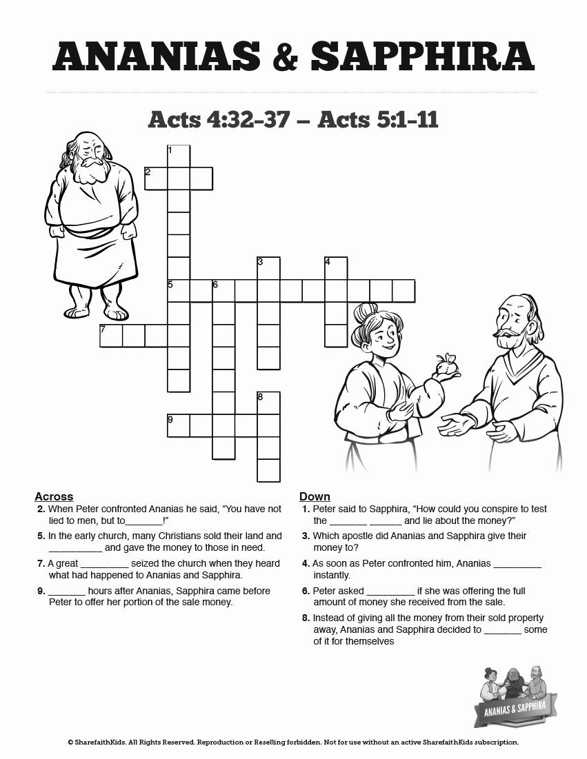 Ananias And Sapphira Coloring Page Beautiful Acts 5 Ananias And