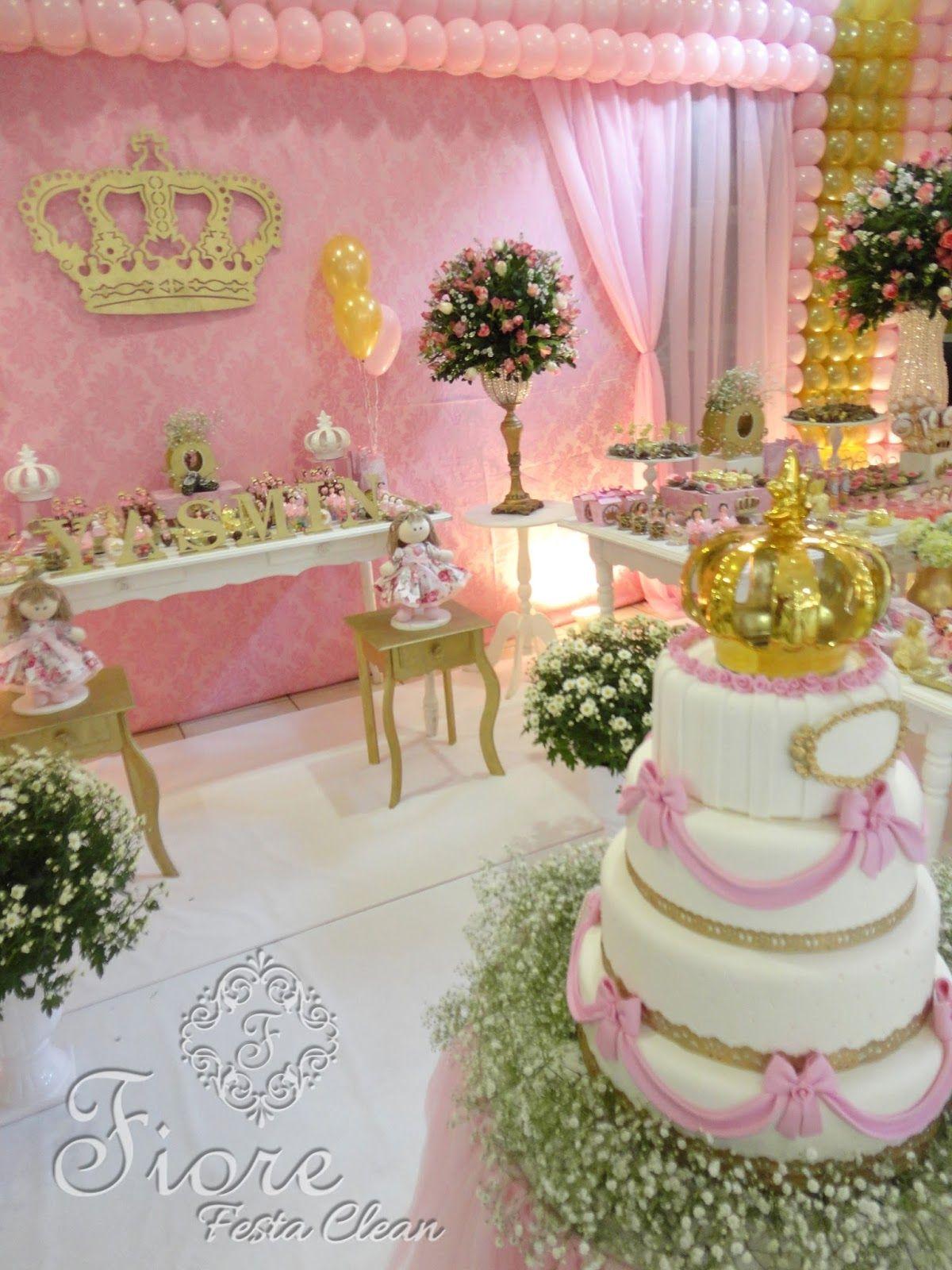 Fiore Festa Clean Com Imagens Decoracao De Festa De Princesa