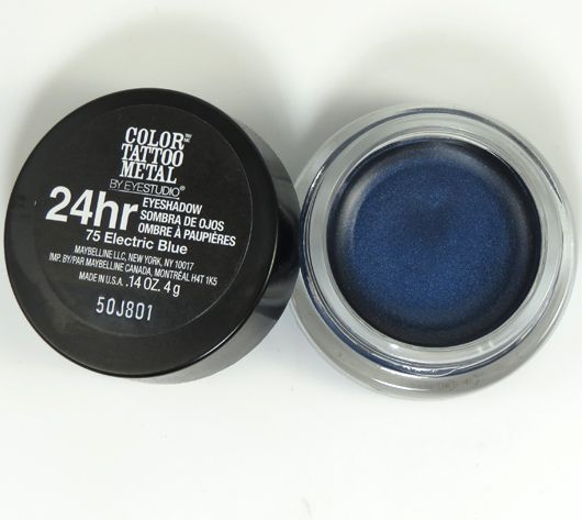 Electric Blue Maybelline Eyestudio Color Tattoo Metal Cream Shadows Review Photos Swatches Beauty Junkies Unite