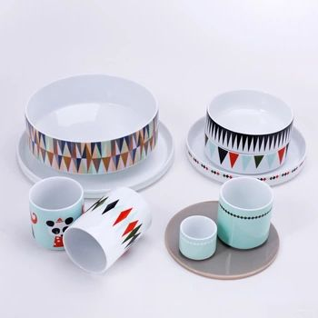 10pcs High end Super New Year Holiday China Porcelain Tableware Set ...