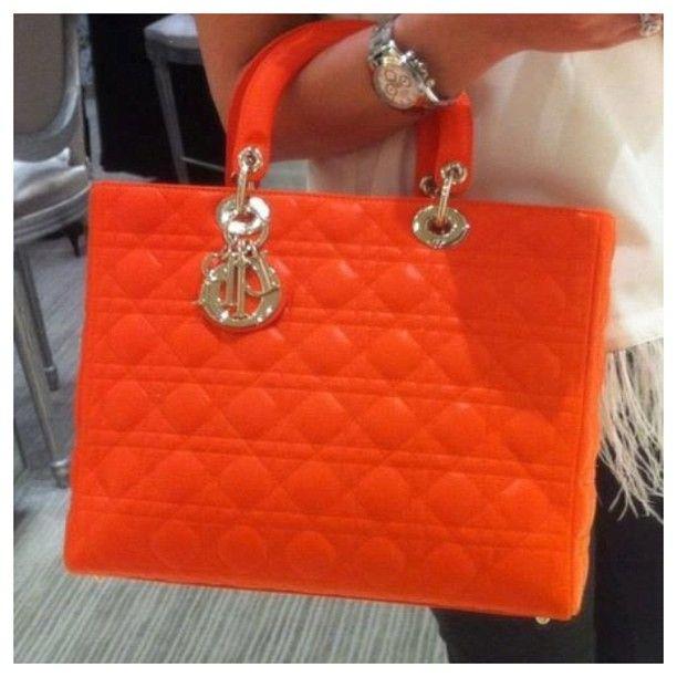 orange dior purse