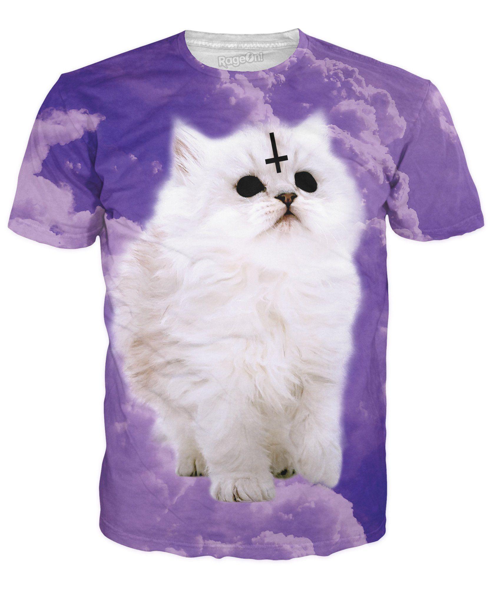 Satan Cat T Shirt Cat Tshirt T Shirt Laser Kitten